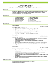 Security Resume Sample Security Resume Objective Examples Of Resumes Supervisor Image 99