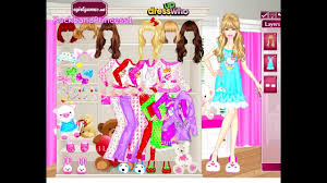Barbie Pajama Party Dress Up Game Youtube