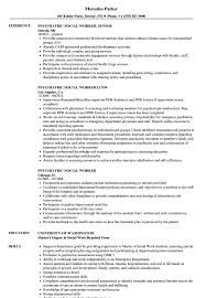 Example Of Social Work Resumes Psychiatric Social Worker Resume Samples Velvet Jobs