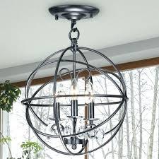 stylish crystal and metal orb chandelier 3 light antique black globe flush mount chrome amazing lighting flush mount orb light 3