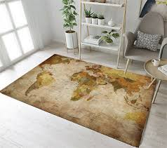 vintage world map area rugs dining room home decor bedroom mat floor rug carpet