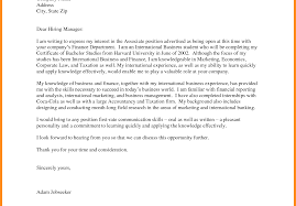 Cover Letter Parts Of Unsolicited Example Resume How To Write For An