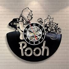 image is loading winnie the pooh honey art vinyl record clock  on wall art vinyl records with winnie the pooh honey art vinyl record clock wall decor home design