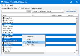 Exporting The Offline Address Book Or Gal Msoutlook Info