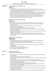 Senior Architect Resume Senior Solution Architect Resume Samples Velvet Jobs 12