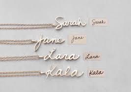 big promotion 925 personalized handwriting name necklace women custom jewelry end words pendants necklace birthday gift
