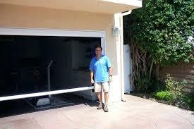 retractable garage door screen sliding garage door screen kits full size of retractable garage screen door