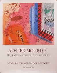 colourful drawing 1987 original exhibition poster raoul dufy le violon atelier mourlot by raoul dufy