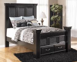 signature design by ashley furniture cavallino queen mansion bed with storage footboard item number cavallino queen storage bedroom set ashley furniture