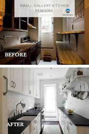 Gallery Design And Remodeling Small Gallery Kitchen Remodel Before And After Photos Start
