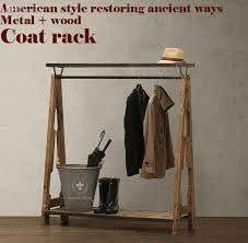 Wardrobe Coat Rack Enchanting American Pastoral Retro Coat Racknostalgic Style Wardrobeclothing