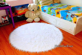 white fur rugs white faux fur rug 5 round luxury plush by visit our website for white fur rugs