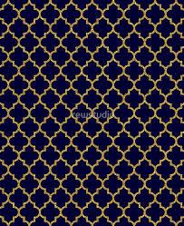 Blue And Gold Design Navy Blue Gold Glitter Quatrefoil Ipad Case Skin