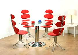 Red dining table set Red Leather Red Kitchen Set Dining Room Glass Top Table With Metal Base Knife Cherry Sets Dinin Dining Table And Chairs Elplaneetaco Red And Black Ning Room Set White Sets Furniture Glass Blue Dining