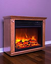 lifesmart large room infrared quartz fireplace in burnished oak finish w remote