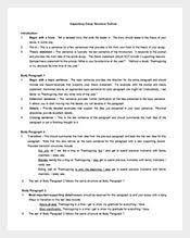 outline sample example format expository essay outline template
