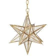 gold star glass pendant pertaining to glass star pendant light
