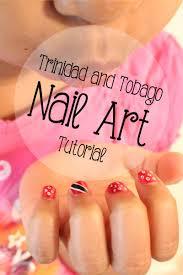 Trinidad Flag Nail Design Trinidad And Tobago Flag Kids Nail Art Tutorial Socamom