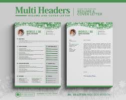 Creative Resume Multi Headers Cv Resume Template