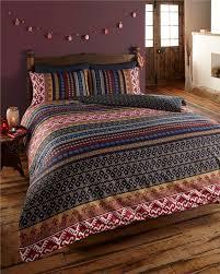 new indian ethnic print bedding king size duvet set quilt cover bed set