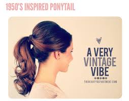 18 the 1950 s inspired ponytail