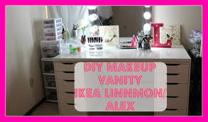 ikea makeup vanity linnmon and alex drawers finding my makeup vanity you