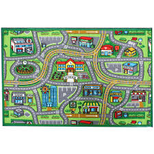 street map multi color 3 ft x 5 ft kids play area rug