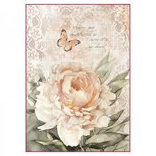 Stamperia Ριζόχαρτο για Decoupage - Vintage Τριαντάφυλλα & Δαντέλα - A4