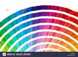 Rainbow Sample Colors Catalogue In Many Shades Of Colors Or
