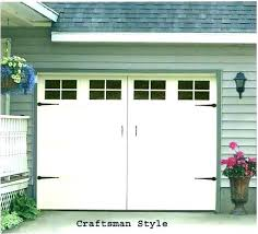fake garage door windows see simulated faux how to install