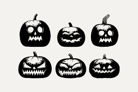 Get 12 different designs in svg, png, eps, dxf + 24/7 technical support. Six Pack Crazy Halloween Pumpkins Graphic By Silviu S Creative Fabrica