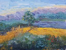 impressionistic provence landscape knife painting 4