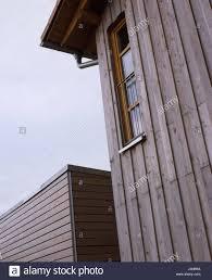 Einfamilienhaus Garage Holzarbeiten Detail Holzverkleidung