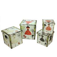 found it at wayfair 4 piece wooden vintage fashion dresses decorative storage box set find this pin and more on desktop file