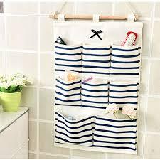 multi pocket wall hanging storage bag bedroom door back cloth bag linen organizer container