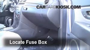 interior fuse box location mazda mazda s  interior fuse box location 2004 2009 mazda 3