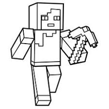 Small Picture Minecraft Person Holding Sword Coloring Page Colouring Pages