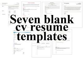 Curriculum Vitae Free Printable Template Purdue Sopms
