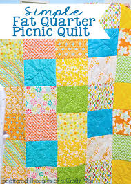 Fat Quarter Picnic Quilt - Scattered Thoughts of a Crafty Mom by ... & Super simple fat quarter picnic quilt. Adamdwight.com