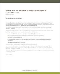 Cover Letter Sponsorship 10 Sponsorship Letter For Event Templates Pdf Doc Free