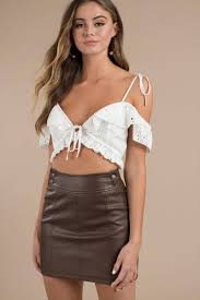 free people free people retro brown con mini skirt