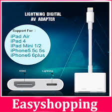 original genuine lightning to av hdmi hdtv tv digital cable adapter for apple iphone 5