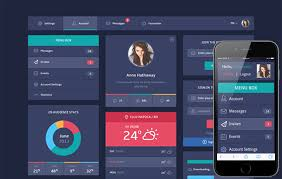 web template design software. Flat Design UI Components web template by w3layouts