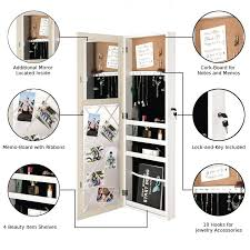 over the door jewelry armoire with lock over the door makeup storage jewelry with mirror over the door jewelry armoire with lock