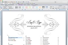 Seating Chart Software Mac Free Printable Wedding Reception Templates