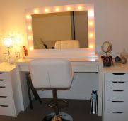 Bedroom Vanity Set With Lights Ideas Milesto Style Home In Light Up ...