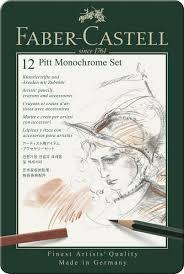<b>Художественный набор Faber</b>-<b>Castell</b> Pitt Monochrome Set 12 ...
