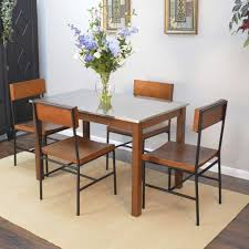 ina forge cooper stainless steel top dining table and elmsley dining chairs cg cf3048 2018