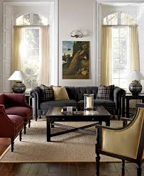 Living Room Furniture Sofas Grey Chesterfield Sofa With An Amazing Oil Painting Print Above It
