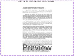 after the first death by robert cormier essays college paper  after the first death by robert cormier essays after the first death essays in